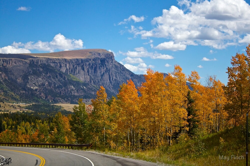 Autumn Mountain Roads in Colorado by May Finch