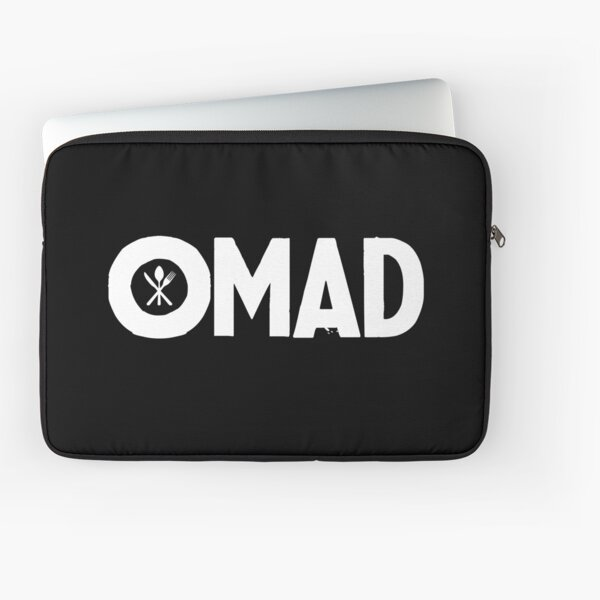OMAD: One Meal a Day (Black) Laptop Sleeve