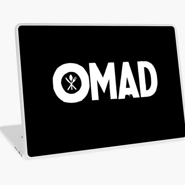OMAD: One Meal a Day (Black) Laptop Skin