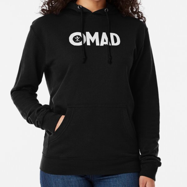 OMAD: One Meal a Day (Black) Lightweight Hoodie