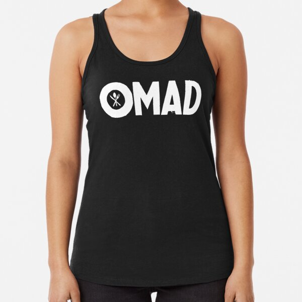 OMAD: One Meal a Day (Black) Racerback Tank Top