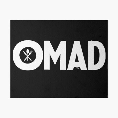 OMAD: One Meal a Day (Black) Art Board Print
