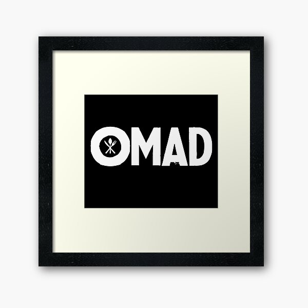 OMAD: One Meal a Day (Black) Framed Art Print