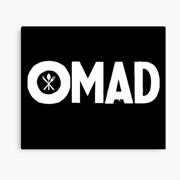 OMAD: One Meal a Day (Black) Canvas Print
