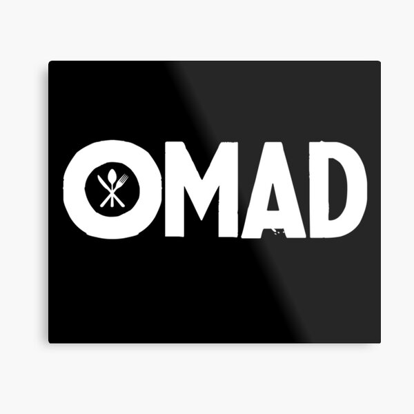 OMAD: One Meal a Day (Black) Metal Print