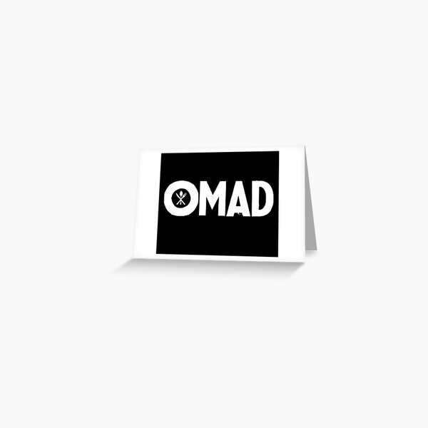 OMAD: One Meal a Day (Black) Greeting Card