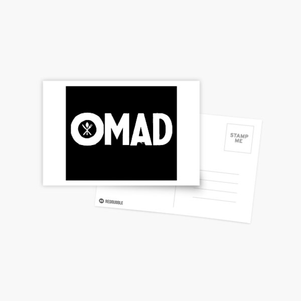 OMAD: One Meal a Day (Black) Postcard