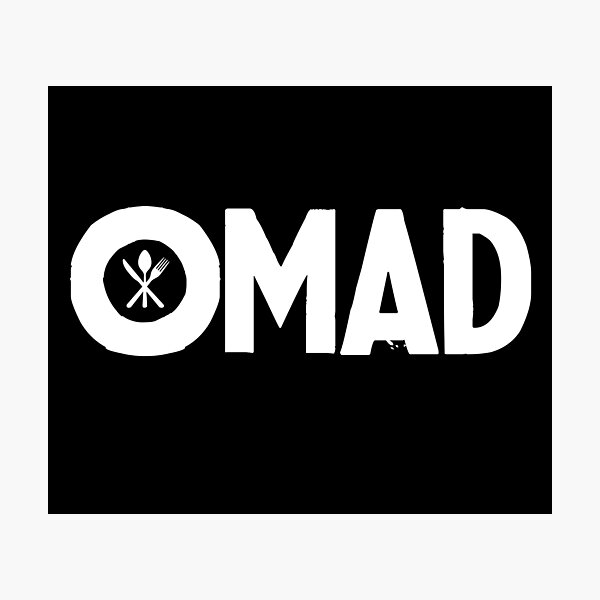 OMAD: One Meal a Day (Black) Photographic Print