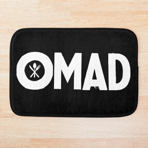OMAD: One Meal a Day (Black) Bath Mat