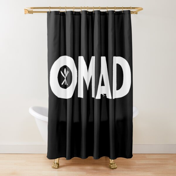 OMAD: One Meal a Day (Black) Shower Curtain