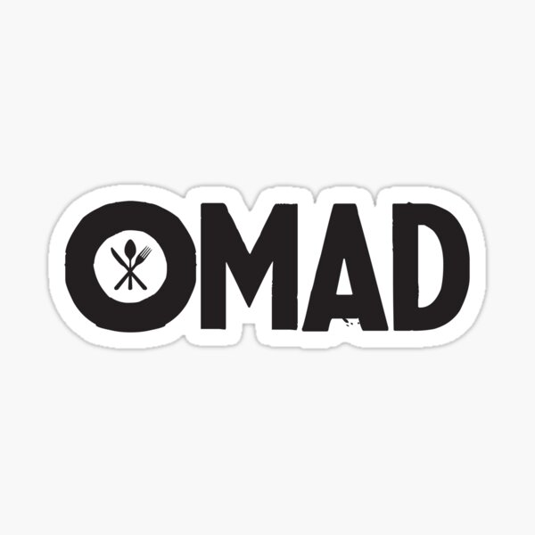 OMAD: One Meal a Day (Black) Sticker