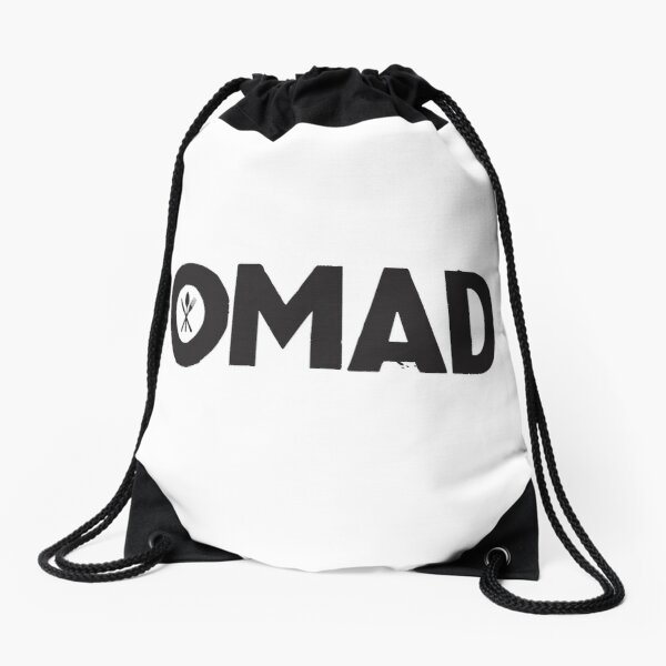OMAD: One Meal a Day (White) Drawstring Bag