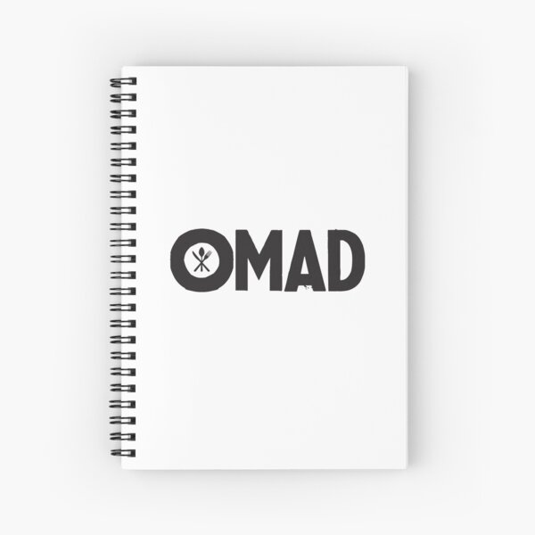 OMAD: One Meal a Day (White) Spiral Notebook