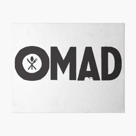 OMAD: One Meal a Day (White) Art Board Print