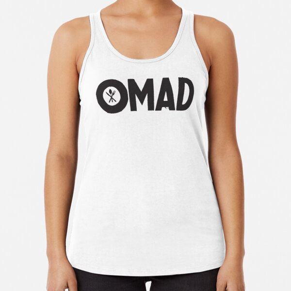 OMAD: One Meal a Day (White) Racerback Tank Top