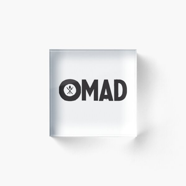 OMAD: One Meal a Day (White) Acrylic Block
