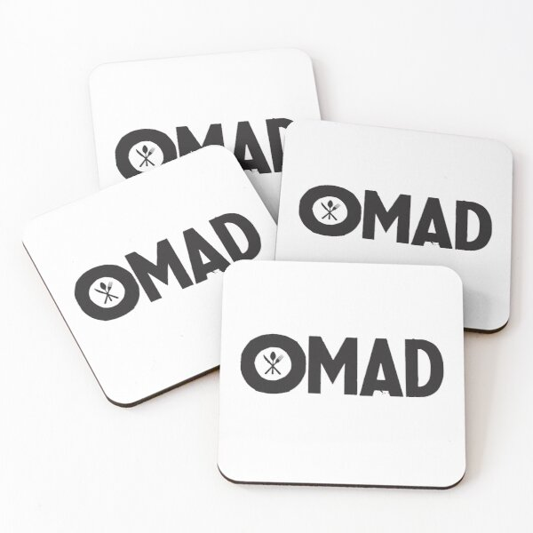 OMAD: One Meal a Day (White) Coasters (Set of 4)