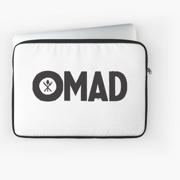 OMAD: One Meal a Day (White) Laptop Sleeve
