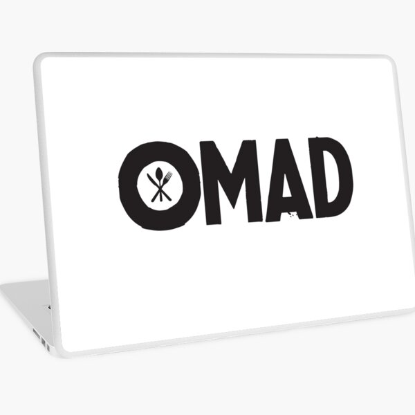 OMAD: One Meal a Day (White) Laptop Skin