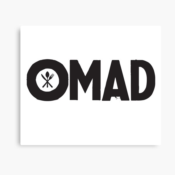 OMAD: One Meal a Day (White) Canvas Print