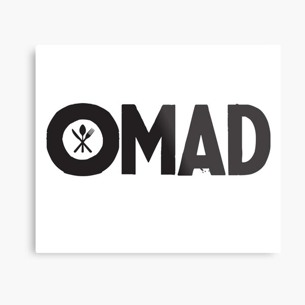 OMAD: One Meal a Day (White) Metal Print