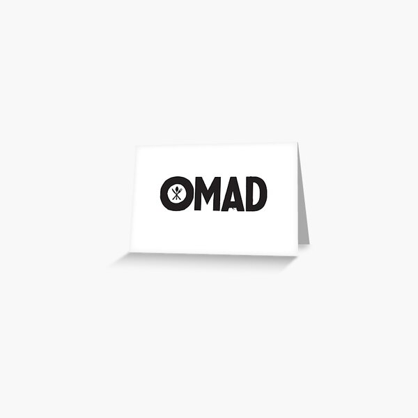 OMAD: One Meal a Day (White) Greeting Card