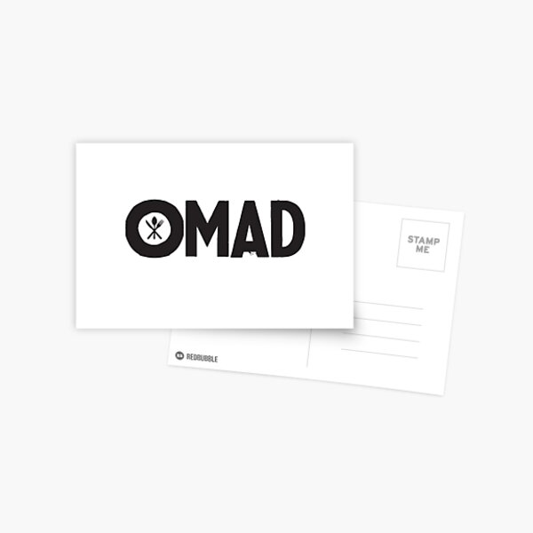 OMAD: One Meal a Day (White) Postcard