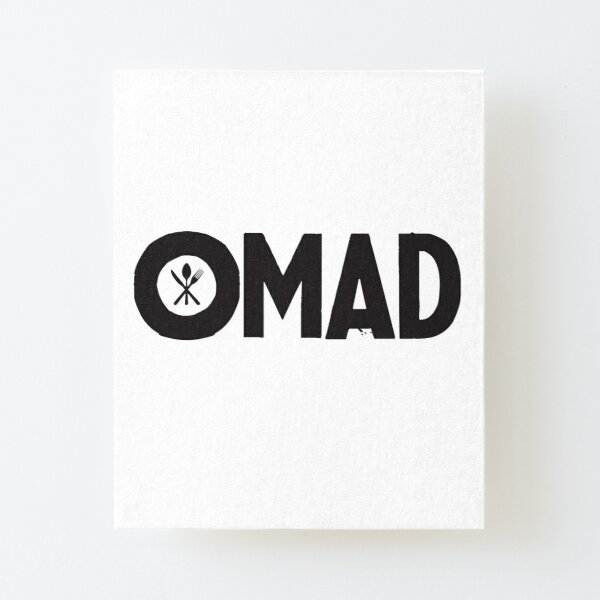 OMAD: One Meal a Day (White) Canvas Mounted Print