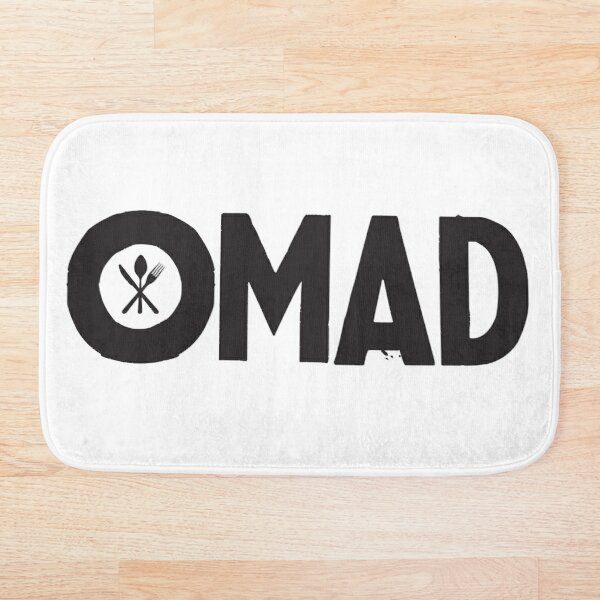 OMAD: One Meal a Day (White) Bath Mat