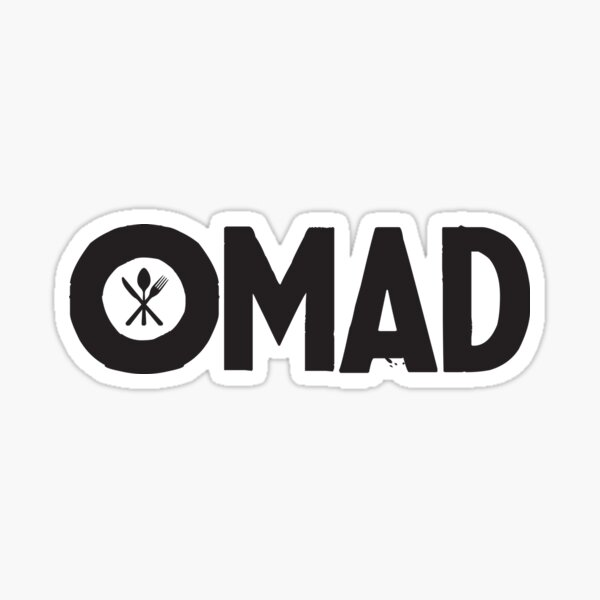OMAD: One Meal a Day (White) Sticker