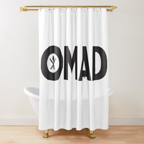 OMAD: One Meal a Day (White) Shower Curtain
