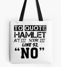 Hamlet - William Shakespeare's play Tote Bag