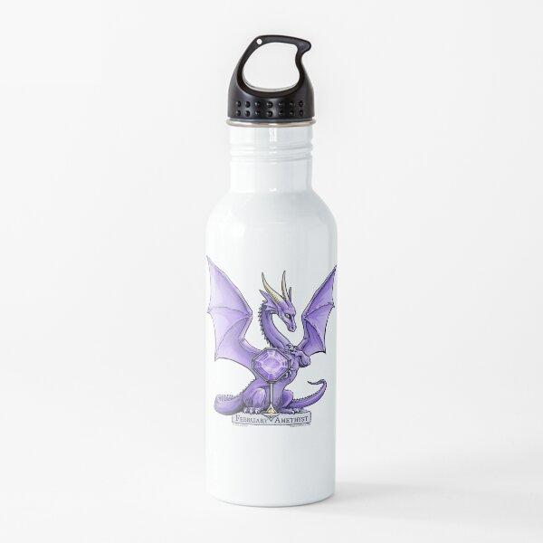 Birthstone Dragon: February Amethyst Illustration Water Bottle