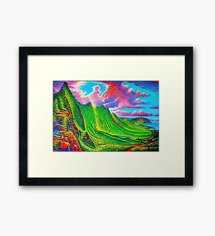 Pali Lookout Framed Print