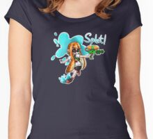 Inkling Splat Shirt Women's Fitted Scoop T-Shirt