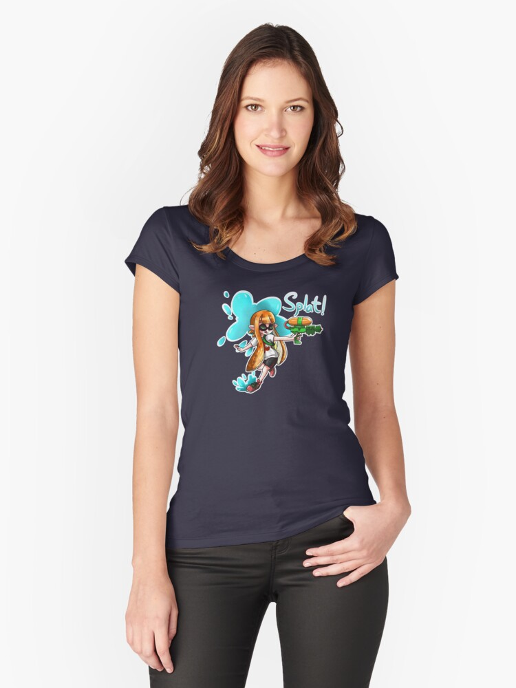 Inkling Splat Shirt Women's Fitted Scoop T-Shirt Front