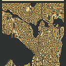 SEATTLE MAP by JazzberryBlue