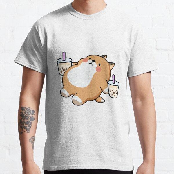 Lazy Shiba Loves Boba! Classic T-Shirt