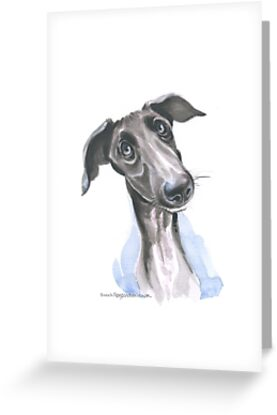 Pondering Greyhound Puppy by Sarah Roozendaal-Simpson