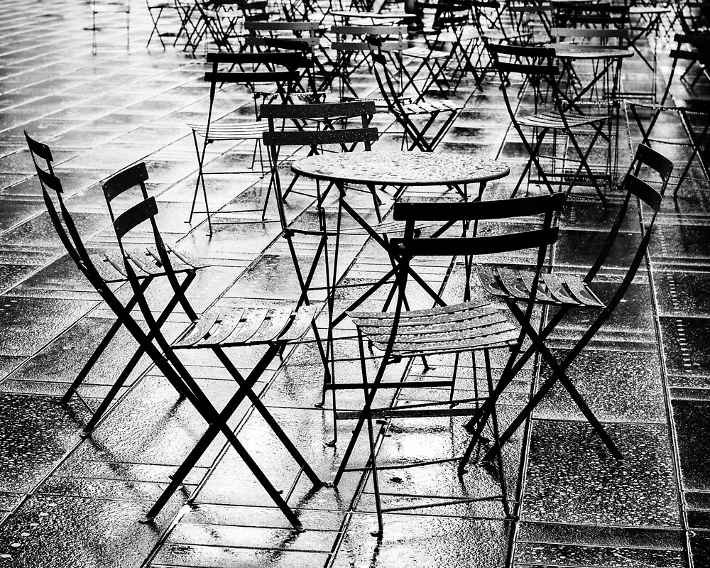 tables, Times Square, New York City by carlrittenhouse