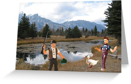No you idiot!!  I said we need to find a duck blind!! by Susan Littlefield