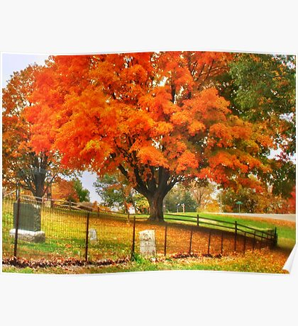 Fall on Cemetery Road Poster