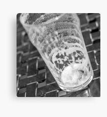 empty beer glass Canvas Print