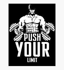 Roronoa Zoro Train Hard And Push Your Limit  Photographic Print