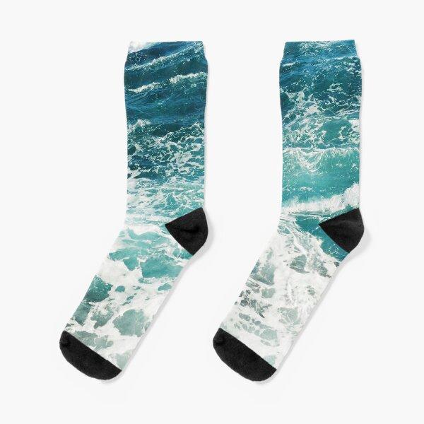 Blue Ocean Waves  Socks