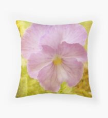A Pretty Pansy (for Chelei) Throw Pillow