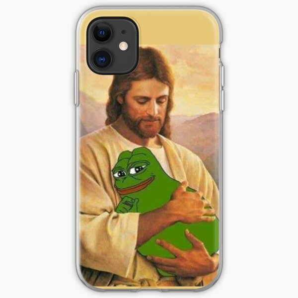Jesus Loves Little Pepe iPhone Soft Case