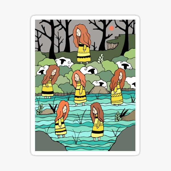 The Water Lovers Sticker