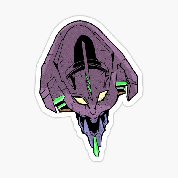 Neon Genesis EVANGELION Mecha Head - Dream Of a Robot - Cerberus Sticker Sticker