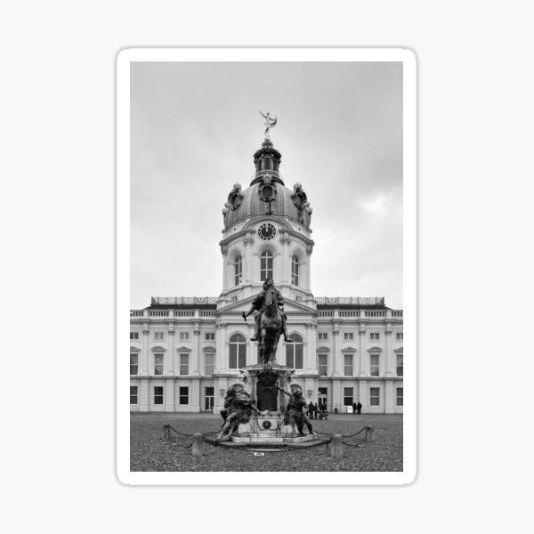 Fredrik Vilhelm. Schloss Charlottenburg. Berlin bw Sticker
